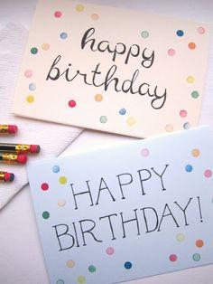 gepunktete Geburtstagskarte selbermachen