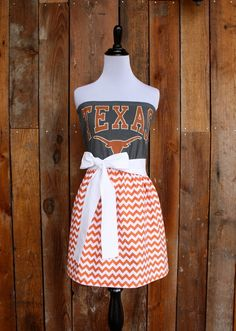 University of Texas Longhorns Game Day Dress by Jill Be Nimble on Etsy #Christmas #thanksgiving #Holiday #quote