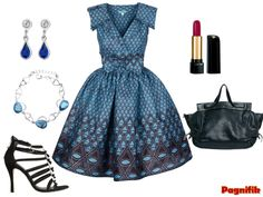 Idée de look Pagnifik - robe pagne bleu Sika Designs   Pagnifik