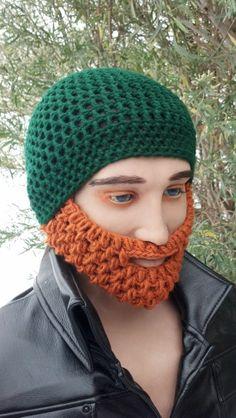 Green Beard Hat w/ Detachable Beard choose any by HolyNoggins, $35.00