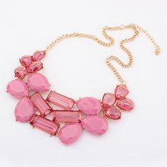 I like this. Do you think I should buy it?Cheap Fashion Jewelry Korean Sweet Geometric Necklace  shop at Costwe.com