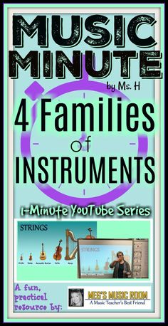 1-minute music lessons! Show these four videos to your elementary music kids as a fast, easy review or intro to the four families of instruments in the orchestra. Great as a bell ringer (class starter)!  Follow me!  Meg's Music Room Teachers Pay Teachers Store: https://www.teacherspayteachers.com/Store/Megs-Music-Room Meg's Music Room on Facebook: www.facebook.com/megsmusicroom   HOW TO MAKE THE BEST MUSIC SUB TUB: https://www.youtube.com/watch?v=155DkYQLuH4&t=3s