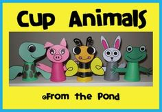 $ There are full templates for five animals included - frog, turtle, pig, rabbit and bee - in both color and black/white.We have also provided a variety of writing card templates to use alongside your completed cup animals (the writing activity is optional).