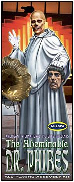 Abominable Dr. Phibes Vincent Price Aurora Fantasy Box
