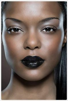 Dark lipstick & black skin