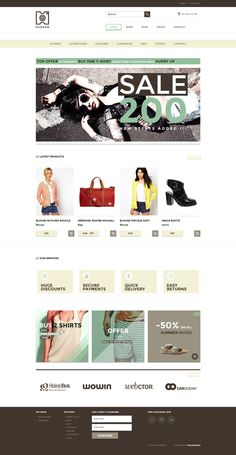 HUDSON – eCommerce WP by WordPress Design Awards , via Behance