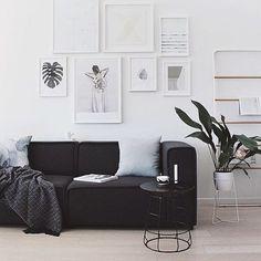 """Regram via @thedesignchaser #loungeroom #sofa #veespeers #white #plantlife"""