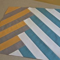 MODERN Block of the Month (January) -- White/Blue, Grey/Purple. Oatmeal, Scarlet, Cranberry, Black. -- MIL. -- from SewMamaSew.com