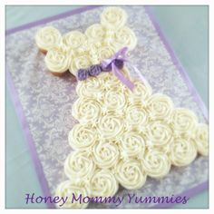 Wedding Dress Cupcake Cake