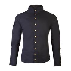Chronus Mens Black Steampunk Shirt ($51) ❤ liked on Polyvore featuring men's fashion, men's clothing and men's shirts
