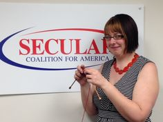 Secular Coalition President Amanda Metskas wants you to #GetAnotherHobby and #KnitABrick with her!