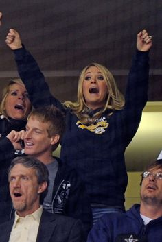 Carrie Underwood went wild for the Nashville Predators (Getty Images)