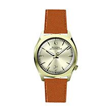 Buy Bulova 97B32 Men's Accutron II Leather Band Watch, Brown/Gold Online at johnlewis.com