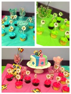 Candy buffet power puff girls birthday party favors