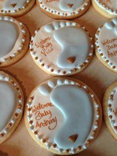 Baby Feet Cookies (1 dozen) on Etsy, $36.00 Fancy Cookies, Iced Cookies, Cute Cookies, Royal Icing Cookies, Sugar Cookies, Cookies Et Biscuits, Heart Cookies, Valentine Cookies, Easter Cookies