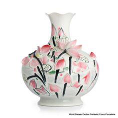 FZ02829 Franz Porcelain Black Swan Large Vase (LE 588) Wu Guanzhong collection