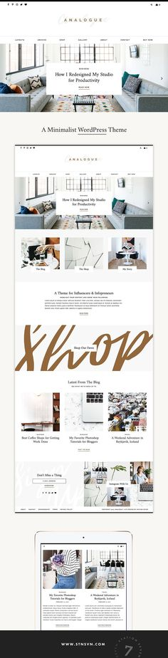 Analogue - A Blog + Shop Theme by Station Seven on @creativemarket
