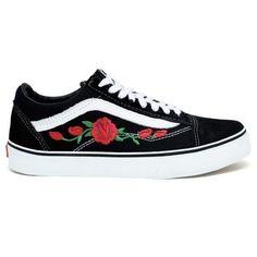 Tênis old skool vans - preto flor. Vans Sneakers, Vans Shoes, Sneakers Fashion, Fashion Shoes, Tenis Old Skool, Cute Vans, Shoes Wallpaper, Painted Sneakers, White Nike Shoes