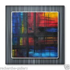 Abstract Metal Wall Art Over The Rainbow by Megan Duncanson Modern Home DÃcor