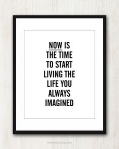Live The Life You Imagined via Etsy.
