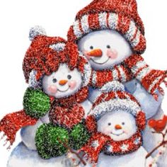 A family of snowmen