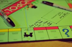 wedding guests sign Monopoly game board Source by Wedding Schedule, Wedding Planning, Party Planning, Wedding Advice Cards, Wedding Ideas, Wedding Book, Wedding Decor, Wedding Guests Sign In Ideas, Dream Wedding