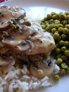 Basil: Pork Tenderloin Chops with Mushroom Cream Sauce