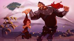 Arya Stark And The Hound - Disney Got Collection by nandomendonssa.deviantart.com on @deviantART