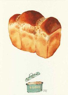 i / osaki yoshiyuki Watercolor Food, Watercolor Paintings, Watercolour, Dessert Illustration, Watercolor Illustration, Food Drawing, Painting & Drawing, Food Painting, Kitchen Art