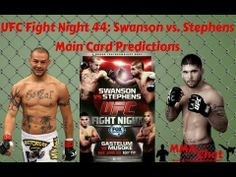 UFC Fight Night 44: Swanson vs. Stephens Predictions On The MMA Live Chat Show -   Streamed live on Jun 25, 2014 -   On the season 2 episode 20 show of 'The MMA Live Chat Show' We did our 2nd live broadcast on YouTube... the guys discuss the UFC Fight Night 44: Swanson vs. Stephens main card and give their predictions.  #UFCFightNight44 #SwansonVsStephens  #Predictions @MMALiveChatHour @DGfishingtime & @RichDavie #MMAChat