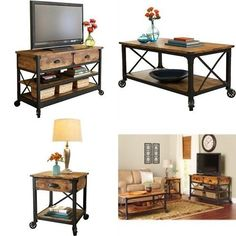 Rustic Living Room Set Tv Stand Table Coffee Country Wood End Furniture Accent  | Home & Garden, Furniture, Tables | eBay!