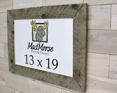 Barn Wood [Thin x MadMoose Picture Frame by LunarCanyon 3 Picture Frame, Barn Wood Picture Frames, Nail Holes, Presents, Rustic, Gifts, Country Primitive, Retro, Farmhouse Style