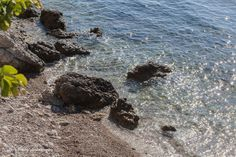 Just sea and rocks.  Seems a peaceful something to look at on a Monday morning in Beaulieu-sur-Mer. Monte Carlo Daily Photo: Beach and Sea