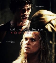 // Bellamy and Clarke // Bellarke // The 100 // the CW //