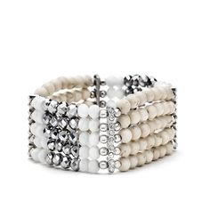 PINKSTIX   Cream Turquoise Bracelet - Organic Traveller - Latest Trends