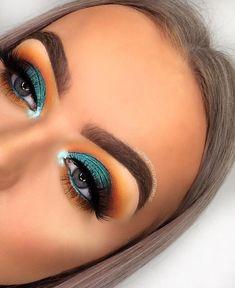 Makeup Eye Looks, Eye Makeup Art, Cute Makeup, Glam Makeup, Skin Makeup, Eyeshadow Makeup, Makeup Tips, Makeup Ideas, Makeup Inspiration