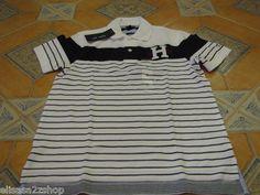 Men's NEW Tommy Hilfiger Polo shirt XL slim fit 7827262 logo classic white knit