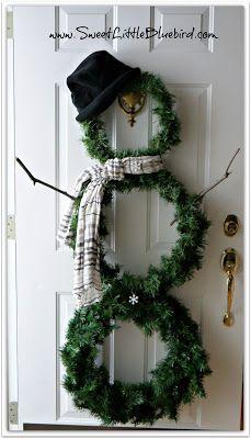 Snowman Christmas Wreath