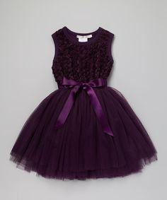 Love this Designer Kidz Purple Ruby Rosette Tutu Dress - Toddler & Girls by Designer Kidz on #zulily! #zulilyfinds