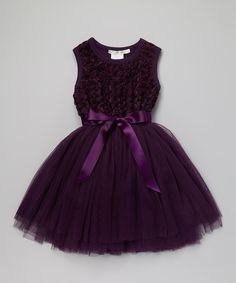 Love this Designer Kidz Purple Ruby Rosette Tutu Dress - Toddler & Girls by Designer Kidz on #zulily! #zulilyfinds