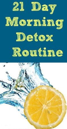 21 Day Morning Detox Routine |  Wanting help dropping some pounds? This detox water is AMAZING . I took the 21 day challenge and the results I have noticed is awesome!!