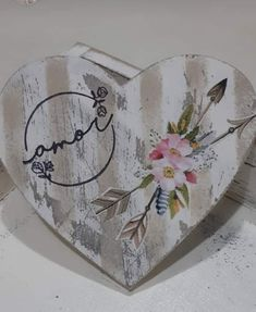 Decoupage Art, Wood Signs, Craft Projects, Mixed Media, Shabby Chic, Hearts, Valentines, Hand Painted, Boho