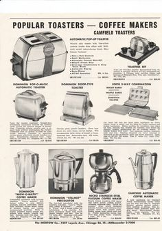 Kitchen appliances during the 50\'s