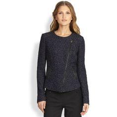 BOSS HUGO BOSS Klera Tweed Jacket (€395) found on Polyvore