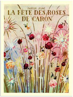 Fete des Roses, Caron, Vintage Perfume Advert
