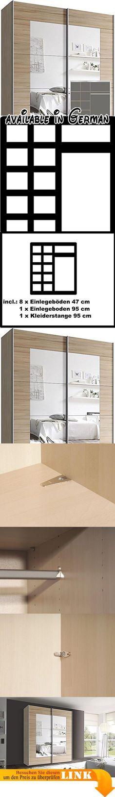 B01BV6D0I0  Kleiderschrank 99337 Schlafzimmerschrank 1-türig weiß