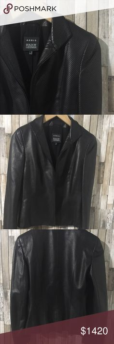 Akris Preforated Leather Jacket Sz 6 EUC Worn a handful of time. Like new condition. Practically new, excellent no defects. Don't be afraid to make An offer :) Women's Size 6.   Akris perforatated leather jacket.  Stand collar; zipper.  Long sleeve, cuffed.  Fitted silhouette. Lambskin. Made in Switzerland. Akris Jackets & Coats