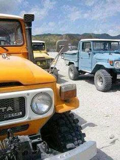 by Doug Karoly Toyota Lc, Toyota Fj40, Toyota Trucks, Fj Cruiser, Toyota Land Cruiser, Go Car, Expedition Vehicle, Vintage Trucks, Cool Trucks