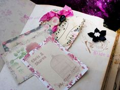 Wedding Guest Book in shabby vintage style  by youruniquescrapbook, £83.95