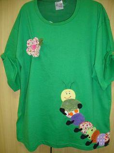 camiseta centopéia camiseta com patch aplique camiseta de algodão,tecidos diversos,botões ponto caseado,fuxicos